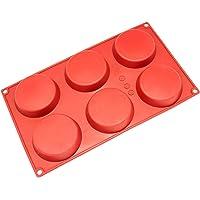 Freshware SM-116RD Mini Disc Molde de Silicona de 15 Cavidades para Pastelitos, Natillas, Tartas o como Molde de Resina…