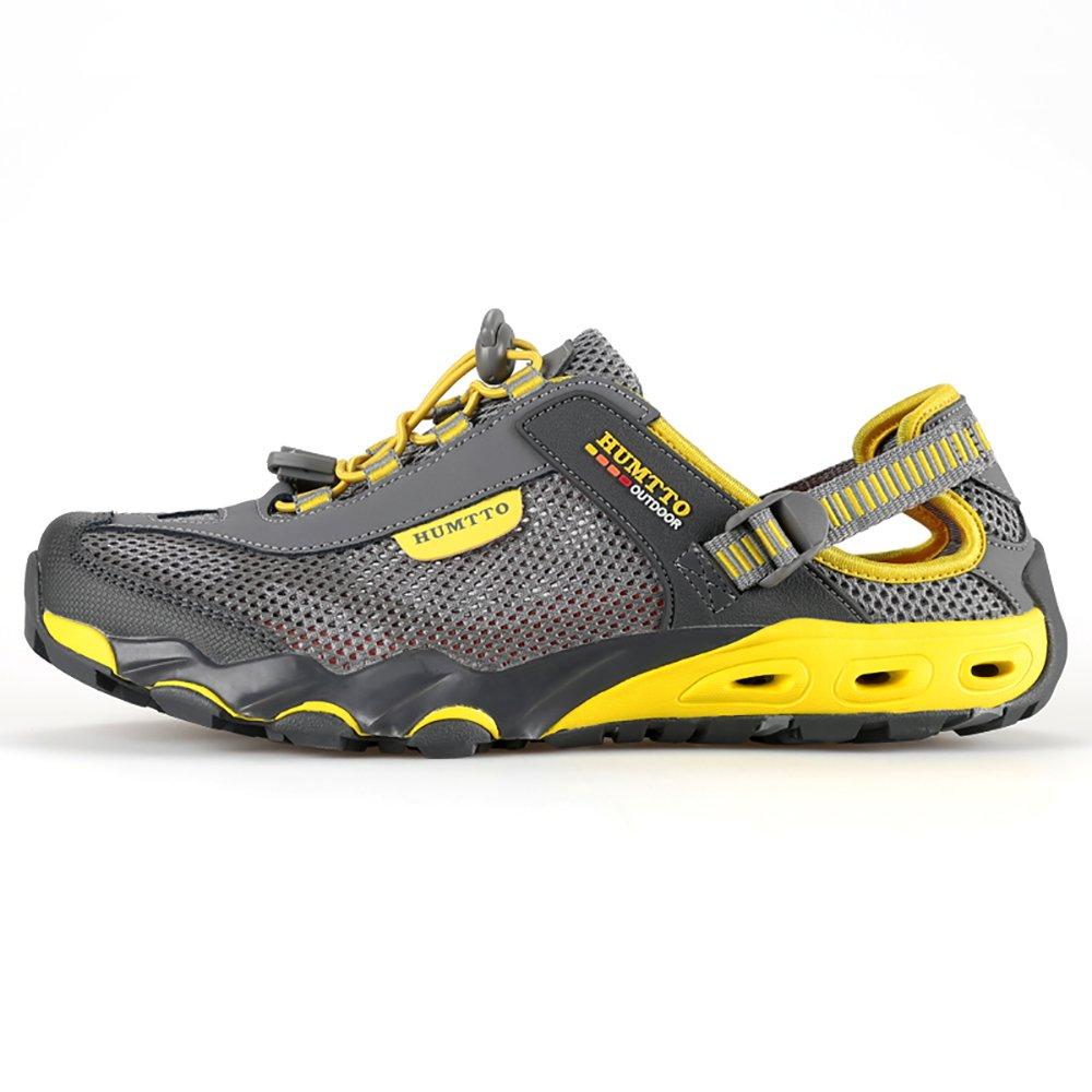 HUMTTO Men's Upstream Shoes Outdoor Trekking Wading Women Aqua Shoes Mesh Quick-Drying Sneakers B07C644616 8 M US|1605 Gray