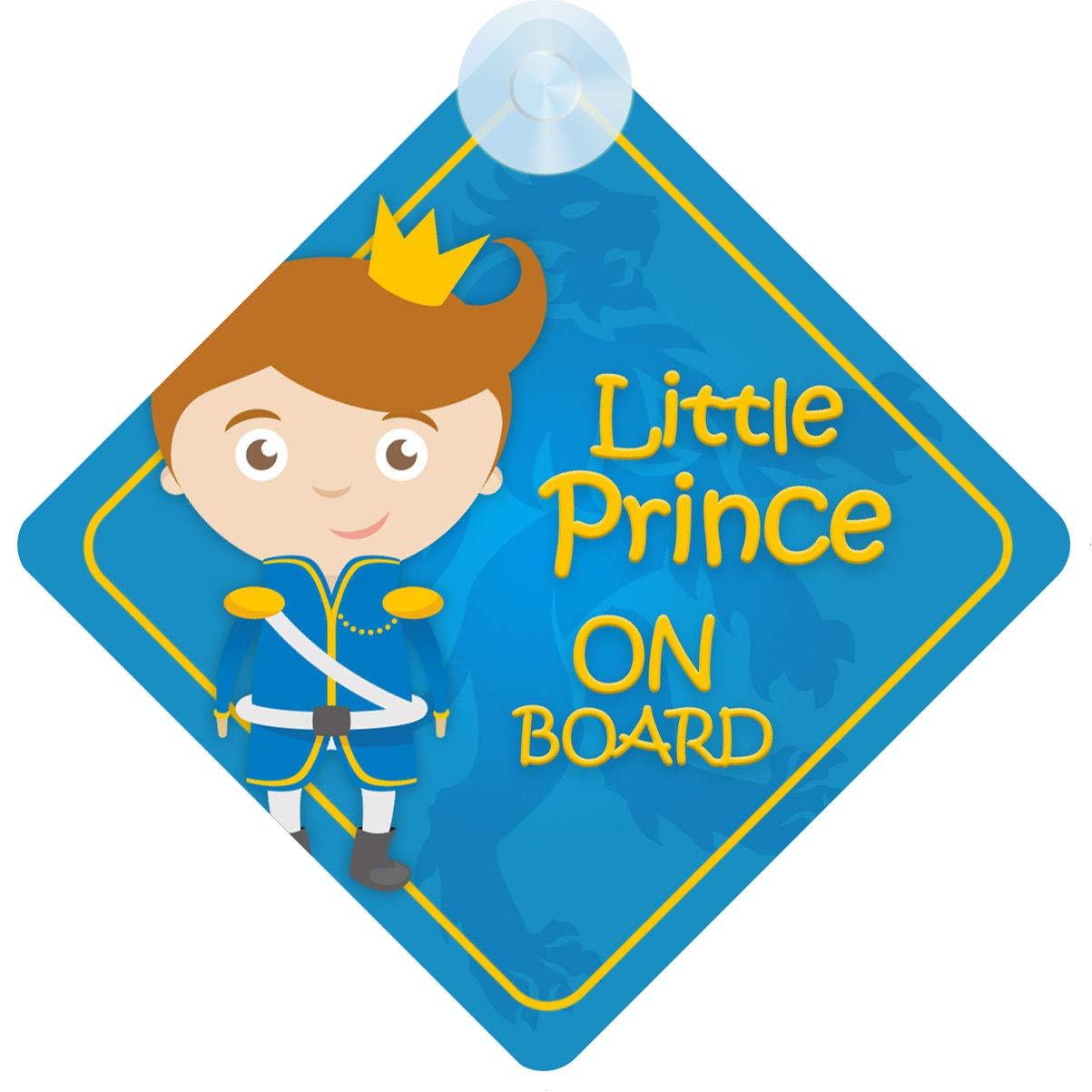 Little Prince on Board Car Sign for Child//Baby Boy Non Personalised Character Theme BLP009