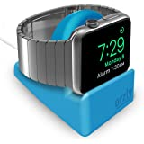 Orzly Compact Stand for Apple Watch - Nightstand Mode Compatible - BLUE Support Stand with integrated Cable Management Slot (38mm & 42mm compatible)