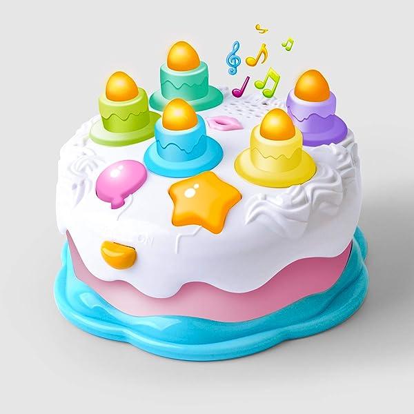 Relaxdays Tarta Hinchable Happy Birthday, Multicolor, PVC ...
