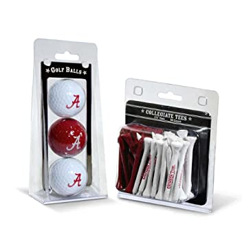 Amazon.com: 3 pelotas y 50 soportes de golf de la marca NCAA ...