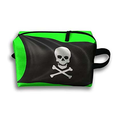 ce2a1e901d chic Animated Black Pirate Flag With Skull Small Travel Toiletry Bag Super Light  Toiletry Organizer For