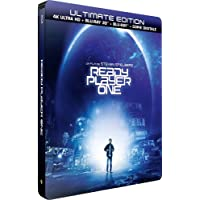 Ready Player One - Edition limitée Steelbook - Blu-ray 4K HDR + Blu-Ray 3D + Blu-ray + Digital copy