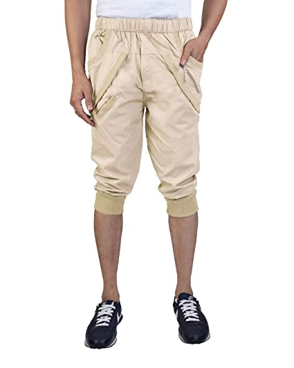8322cc7c CAPE9™ Premium Quality 3/4 Shorts Capris Casual Cargo Stylish Bermuda  Joggers Relaxed Fit
