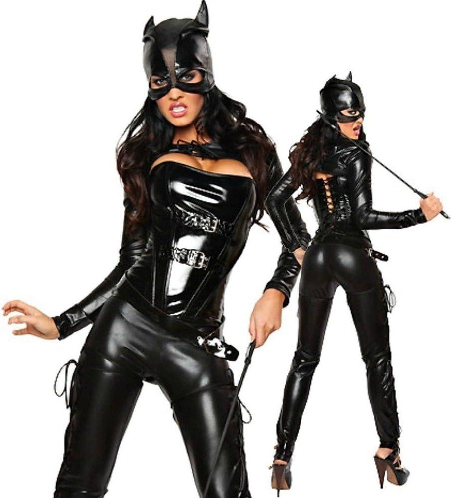 less is more Sexy Mujer Disfraz de baño Black Cat Batgirl Batman ...