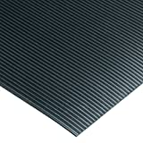 Corrugated Switchboard Mat 3' Width x 4' Length x 1/4'' Thickness, Type II Class 2, Black