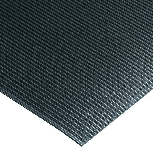 Corrugated Switchboard Mat 2' Width x 75' Length x 1/4'' Thickness, Type II Class 2, Black by American Floor Mats