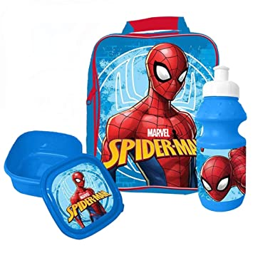 95fd0a8c790b50 Marvel 4105V-6162 Bag/Sandwich Box and Bottle Ultimate Spiderman Lunch Set ( 3-Piece): Amazon.co.uk: Toys & Games