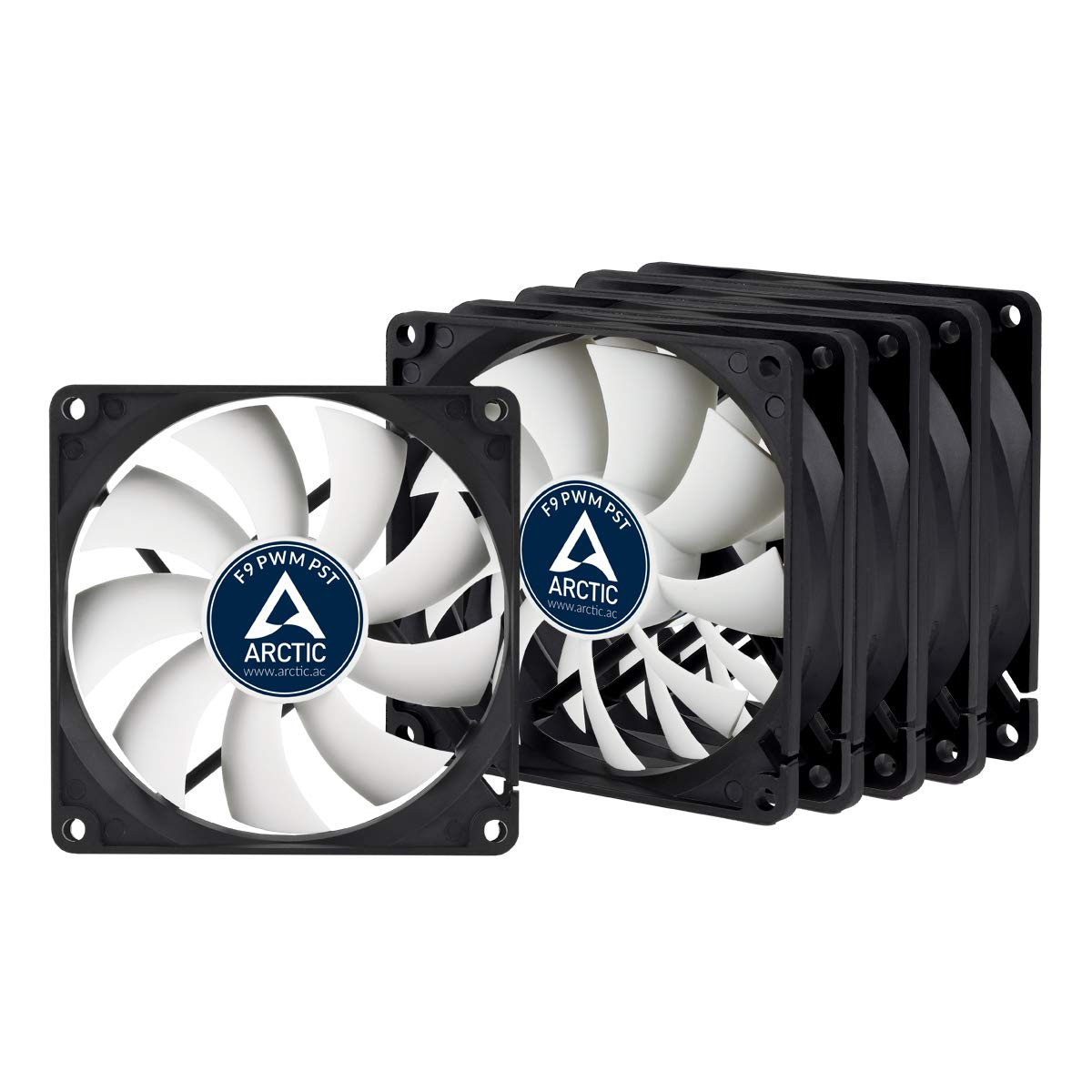Arctic F9 PWM PST - Value Pack (5pc) - Standard Low Noise PWM Controlled Case Fan with PST Feature