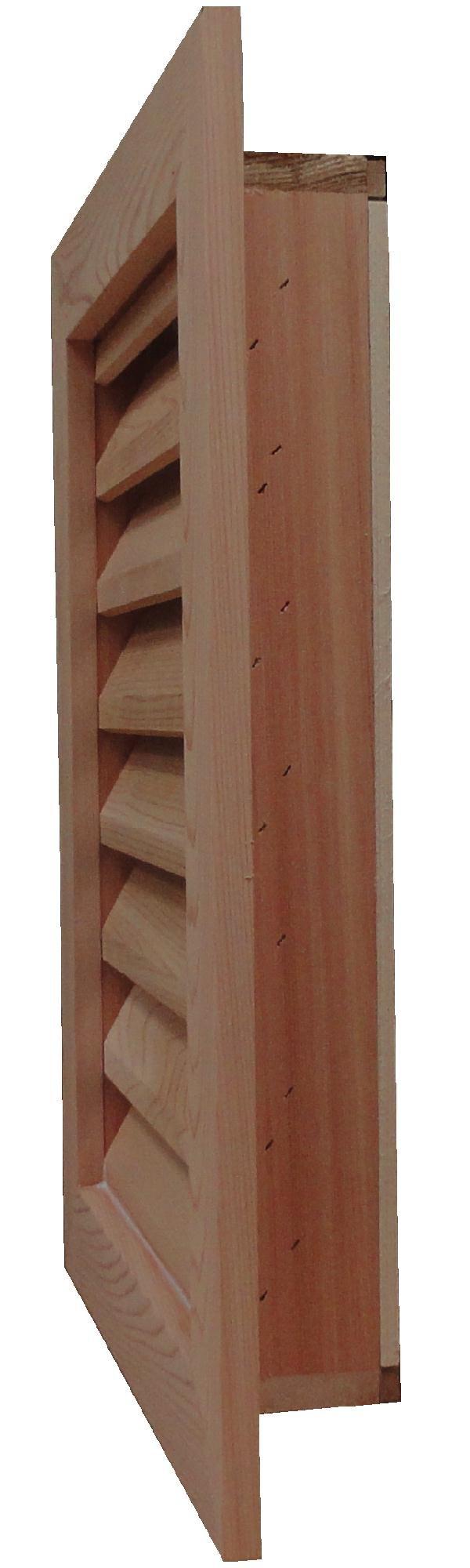 GC1236 Cedar Wood Gable Vent ~ Louver box 11.5 x 35.5 ~ Overall 15.5'' x 39.5'' ~ Kimball Designs Sanded Smooth Functional Ventilation