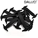 DALUCI 16pcs Lazy Elastic Silicone Shoelaces No Tie Running Sneakers Strings Shoe Laces