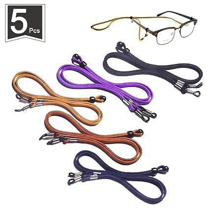 Amazon.com: 5 paquetes de correa ajustable para gafas ...