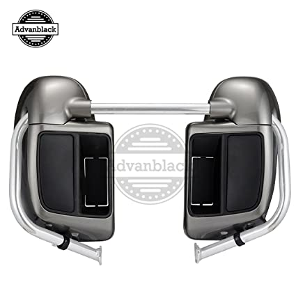 Billet Silver 2014+ Lower Vented Leg Fairing Kits with Glove Box For Harley Davidson Touring