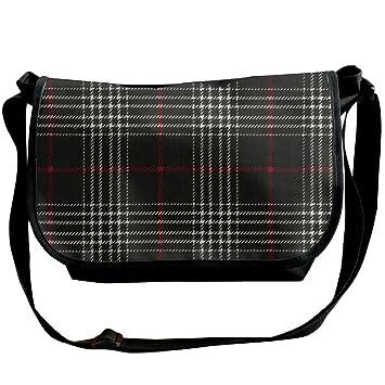 736711608e Glen Plaid Flannel Women Men Canvas Travel Message Bag Casual Outdoor Shoulder  Bag  Amazon.co.uk  Computers   Accessories