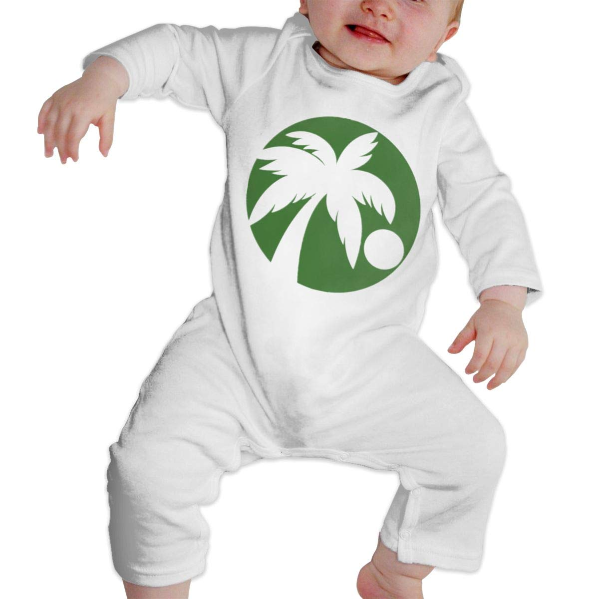 NFtrend Hawaii Coconut Tree Unisex Baby Long Sleeved Rompers Soft Toddler Jumpsuit