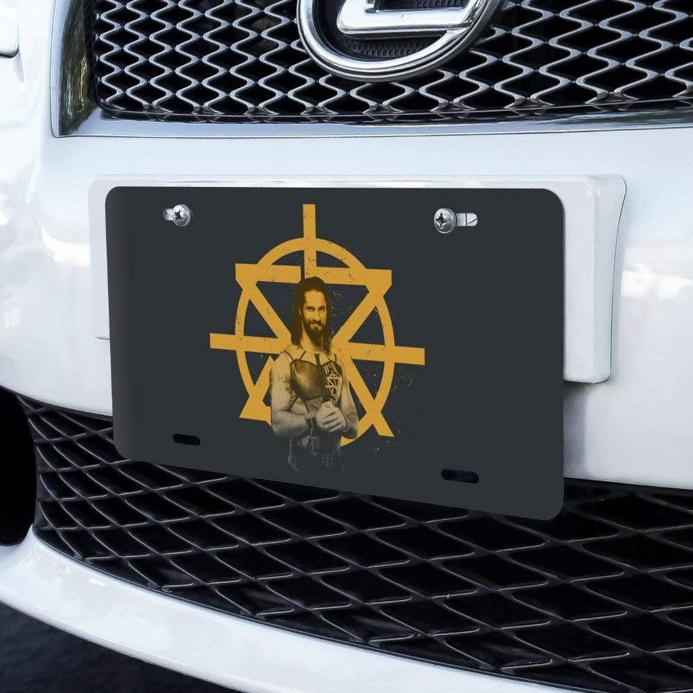 WWE Seth Rollins and Logo Novelty Metal Vanity Tag License Plate