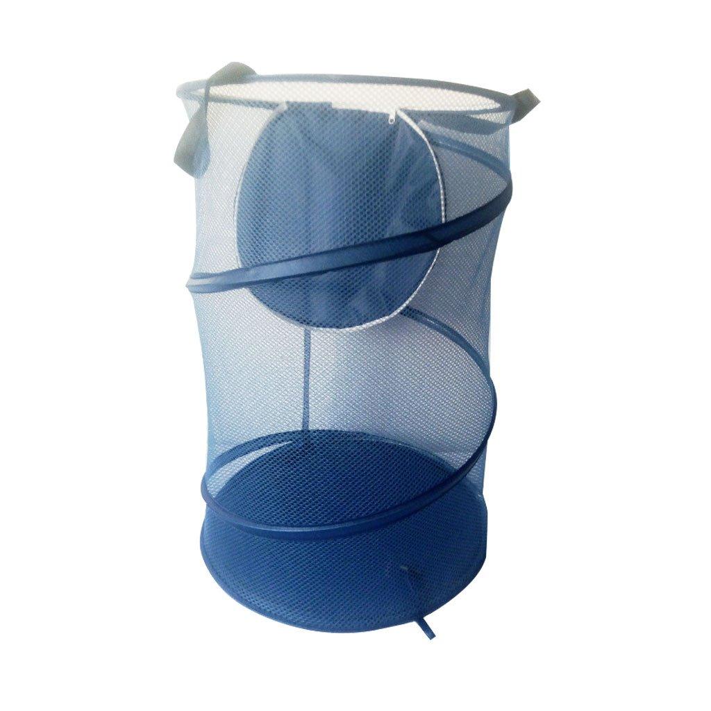 El cesto de lavadero plegable plegable, cesta de almacenaje de los bolsos del lavadero de la malla con cubre Zhongding