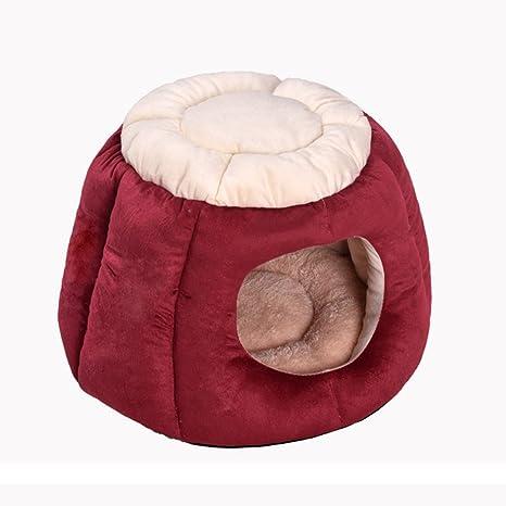 Lamzoom Camas de Perro Apoyo cálido Perro/Gato Cama de Felpa Impermeable Deluxe Suave Lavable