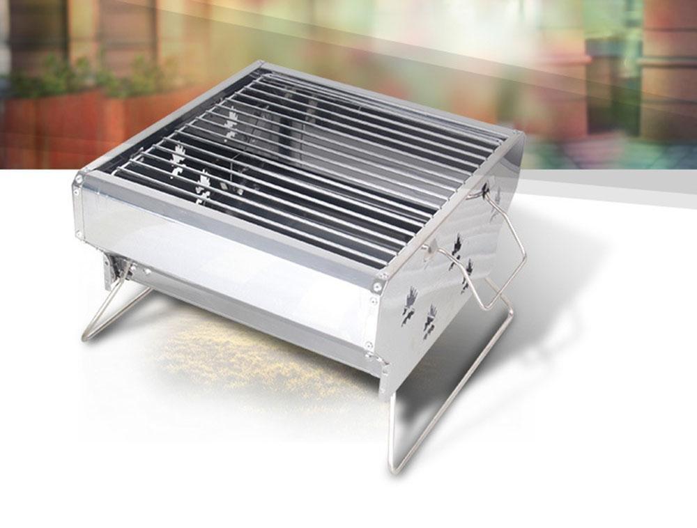 Ausgedehnter im Freienkohlegrill-Ofen kann justiert werden Wind-Edelstahlgrill-Grillhauptfalteverdickungofen