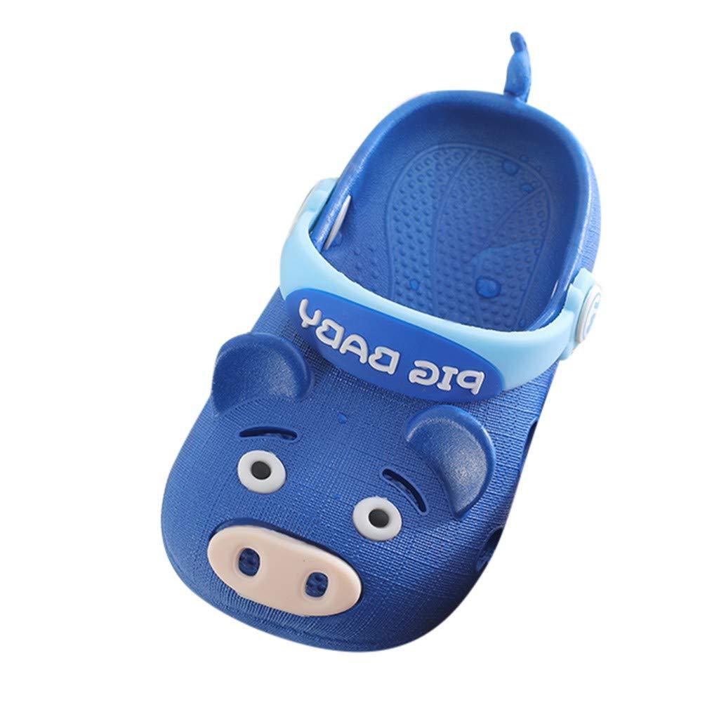 Baby Boys Girls Summer Beach Shoes Toddler Kids Cartoon Pig Slippers Flip Sneakers Children Sandals Size 6-9.5 (US:8.5, Dark Blue) by Dasuy (Image #1)