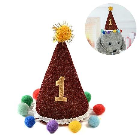 Legendog Mascota Sombrero De Cumpleaños Linda Pom Pom ...