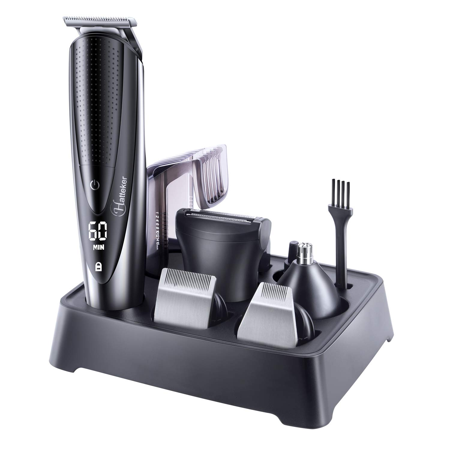 5 In 1 Men's Beard Trimmer Grooming Kit, Cordless Waterproof Hair Trimmer Kit