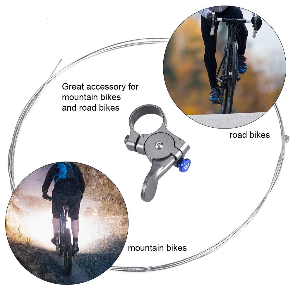 for Universal Mountain Bike Forks Durable Aluminum Alloy Bike Spring Fork Remote Lockout Lever Bicycle Remote Lockout Lever
