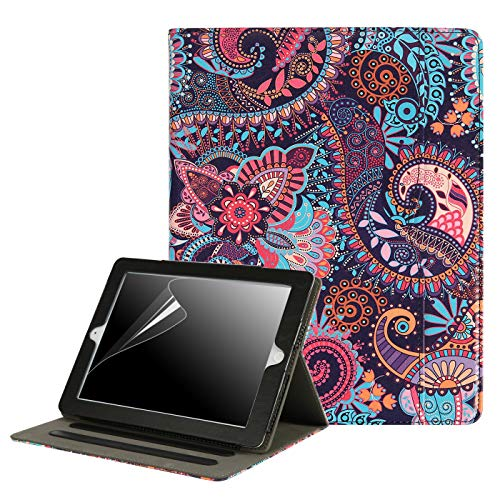 HDE Case for iPad 2 3 4 Leather Case with Screen Protector - Professional Folio Cover with Smart Magnetic Closure, Multiple Viewing Angles and Pocket for Apple iPad 2nd 3rd 4th Generation (Paisley)