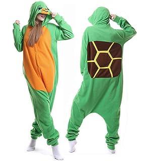 58ab85ff4 Amazon.com  Cosplay Turtle Pajamas Cartoon Onesies Animals Costume ...