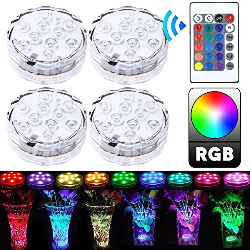 10leds Submersible Underwater Led Rgb Lights Aaa Batteries Powered Waterproof Ip68 Lamp For Swimming Pool Light Tank Led Lamp Lights & Lighting Led Underwater Lights