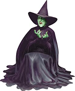 """Paper House Productions 3.5"""" x 2.75"""" Wizard of Oz Die-Cut Wicked Witch Shaped Magnet for Refrigerators and Lockers"""