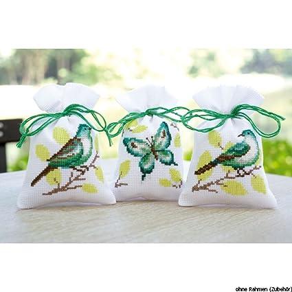 Amazon.com: Vervaco Pot-Pourri Bag Bird & Butterfly Cross ...