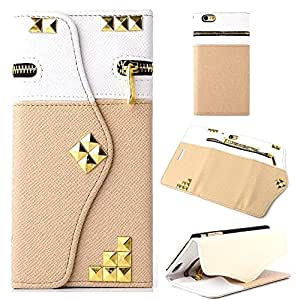 """iPhone 6 Case,Canica#07 iPhone 6 4.7"""" case,iphone 6 leahter,iphone 6 leather case,Rivet Wallet PU Leather Credit Card Holder Pouch Case Cover for iPhone 6 4.7 inch 006"""