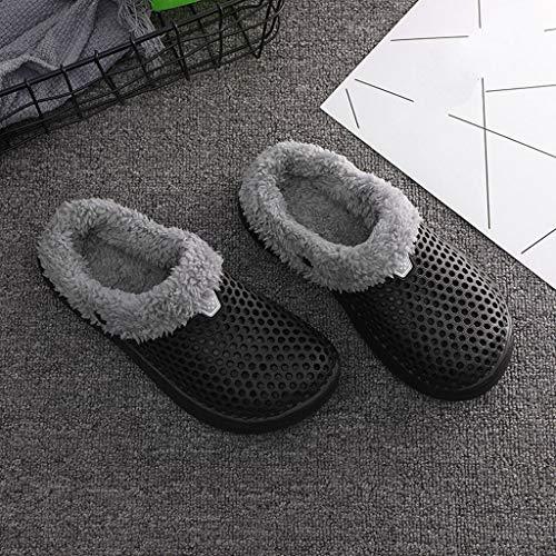 Peluche Morbido 36 40 Cotone Black Pattini Colore Antiscivolo Casa Caldo Pantofole Rcool Inverno Donna Scarpe 3 Home IwWSFBz