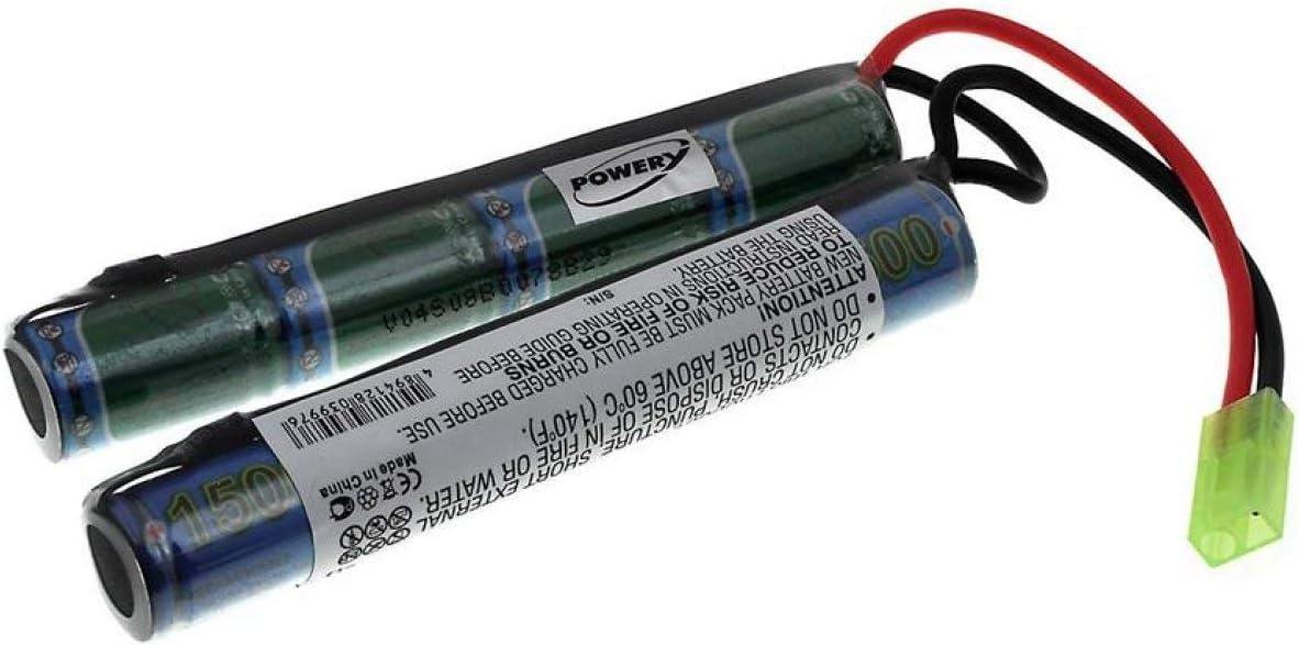 Powery Batería para Armas Softair 9,6V-1500mAh