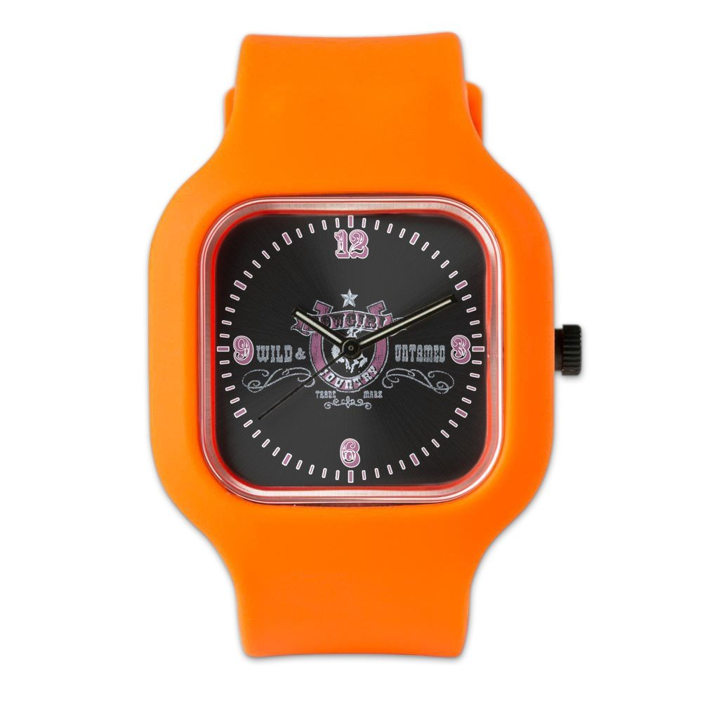 Orange Fashion Sport Watch Cowgirl Country Wild and Untamed