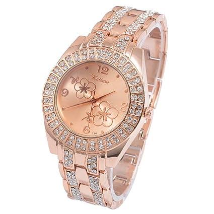 ZNCD Tendencias De La Moda Relojes Clásicos Pulseras para Mujer Bandas De Acero Aleado Diamantes Relojes