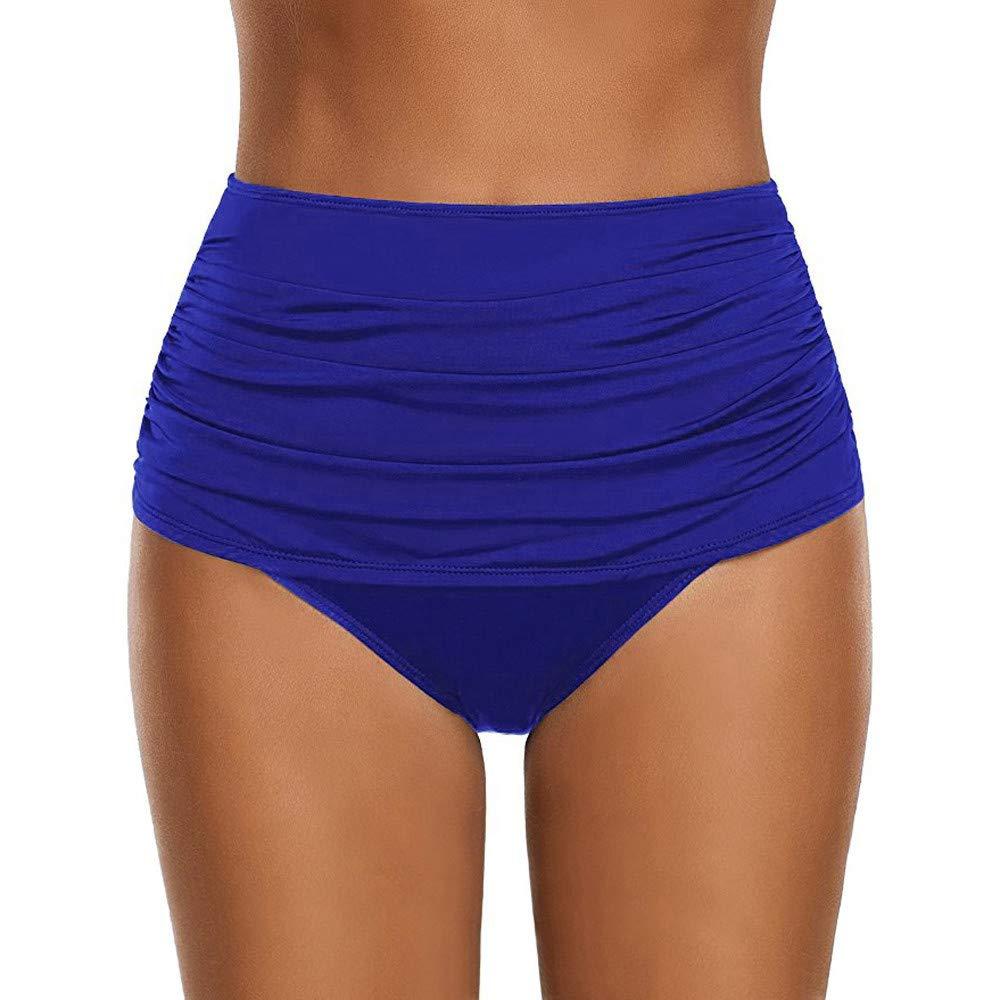 iLUGU One Pieces Tankini for Women Briefs Briefs Swimwear Swimsuit Beachwear Blue