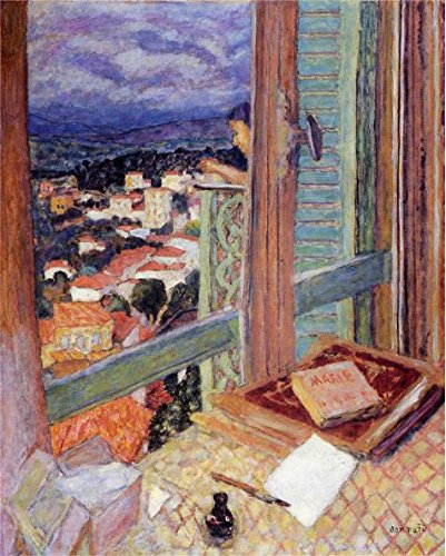 Oil painting 'Pierre Bonnard - The Window,1925' printing on high quality polyster Canvas , 12x15 inch / 30x38 cm ,the best dining Room decor and Home decor and Gifts is this High Resolution Art Decorative Prints on Canvas