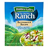 Hidden Valley Original Ranch Salad Dressing and Seasoning Mix, Buttermilk Recipe, 0.4 Ounce (Pack of 24)