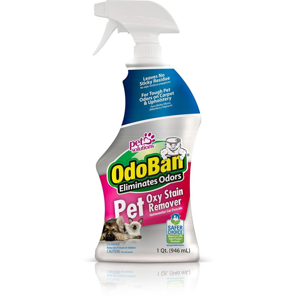 OdoBan Pet Solutions 32oz Spray Bottle Oxy Stain Remover, 3-Pack