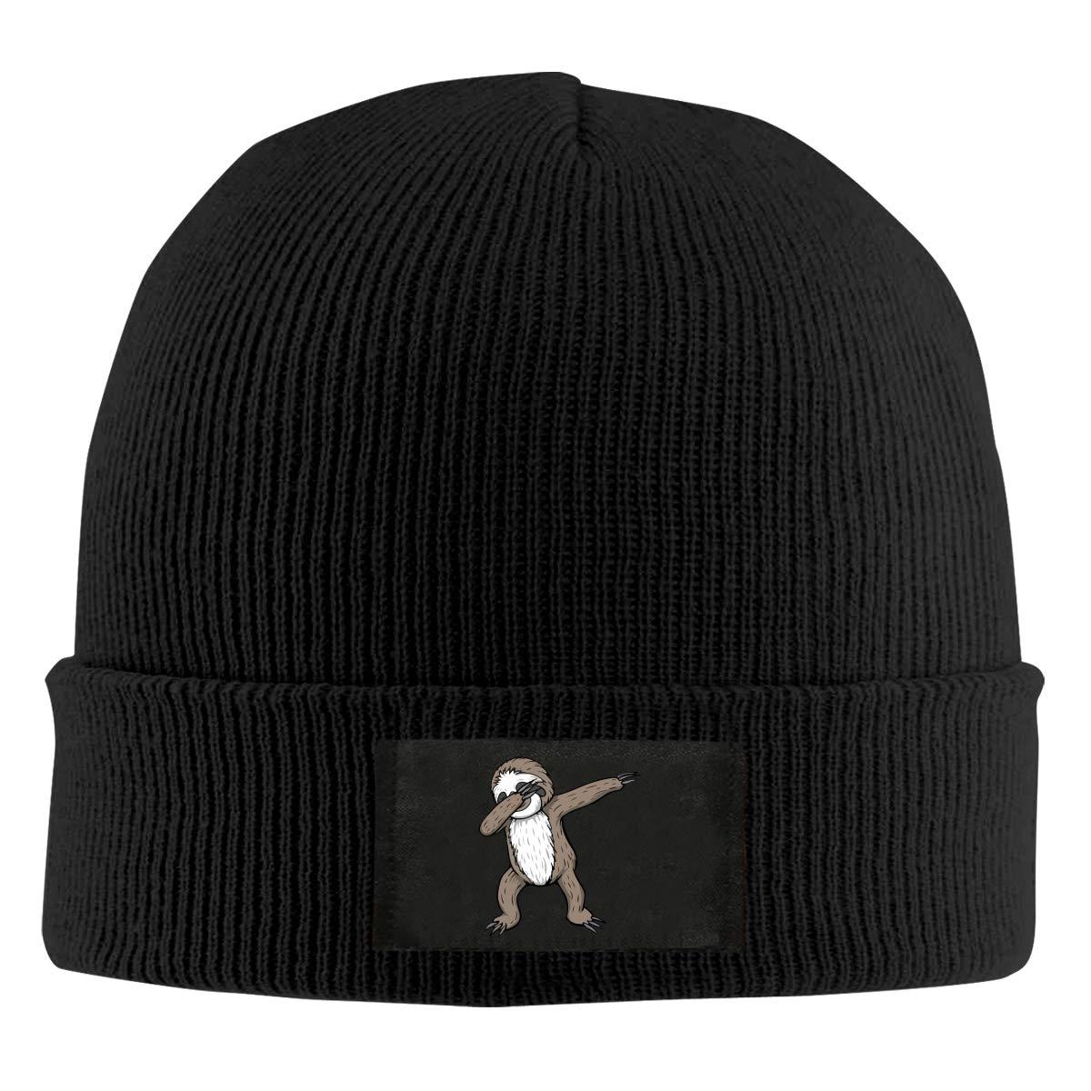 BF5Y6z/&MA Unisex Sloth Dabbing Knitted Cap 100/% Acrylic Wool Skull Cap