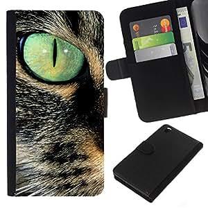 All Phone Most Case / Oferta Especial Cáscara Funda de cuero Monedero Cubierta de proteccion Caso / Wallet Case for HTC DESIRE 816 // Savannah Serengeti Somali Cat Eye Teal