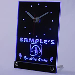 ADVPRO tncqm-tm Personalized Custom Recording Studio Microphone Neon Led Table Clock