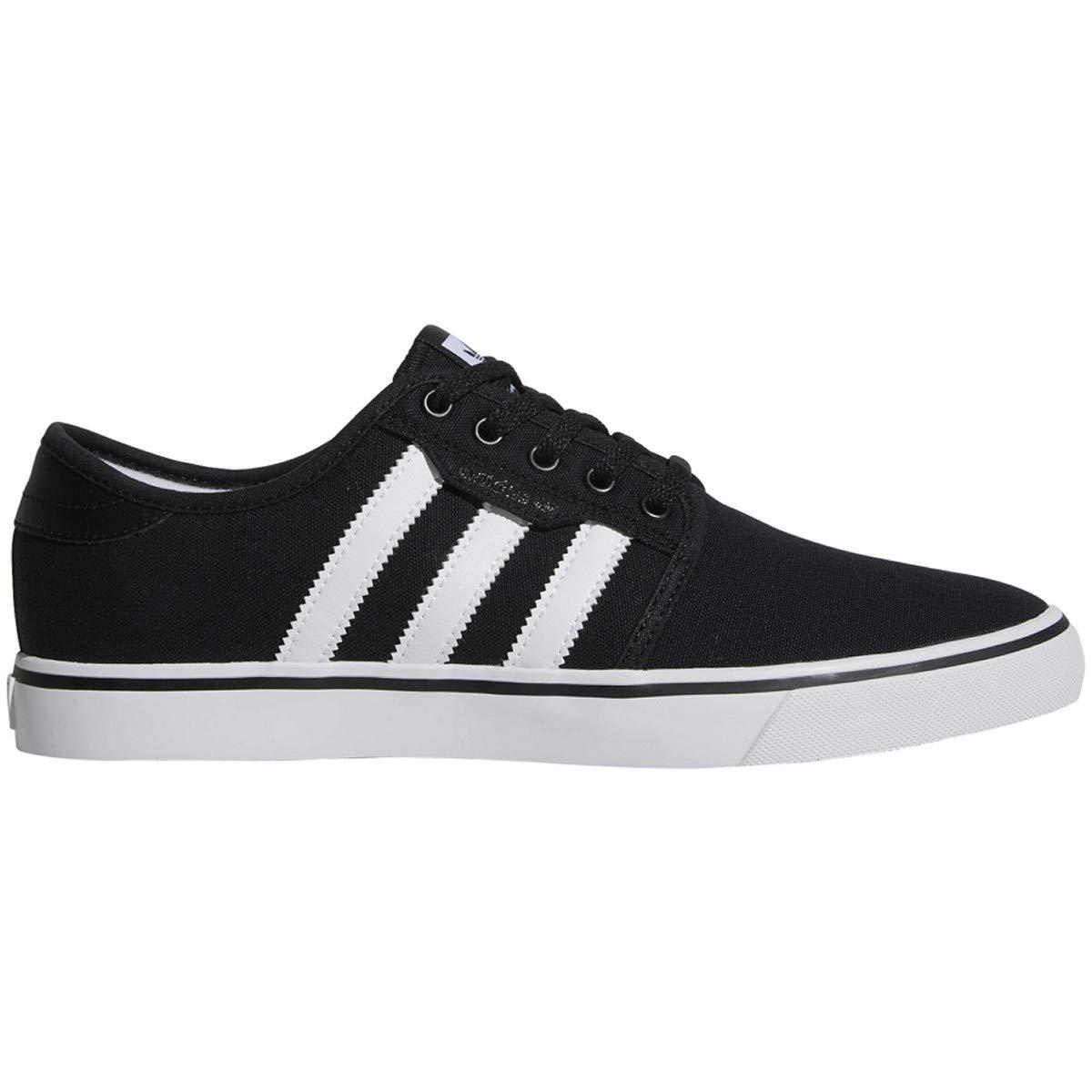 adidas Originals Men's Seeley Running Shoe, Black/White/Gum, 13.5 M US by adidas Originals