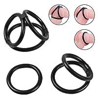 Cob Silicone Cock Ring Set Erection Enhancing Penis Ring Set