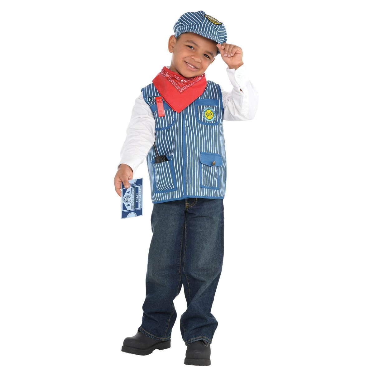 Amazon.com: Amscan 848305 tren ingeniero Kit trajes de niño ...