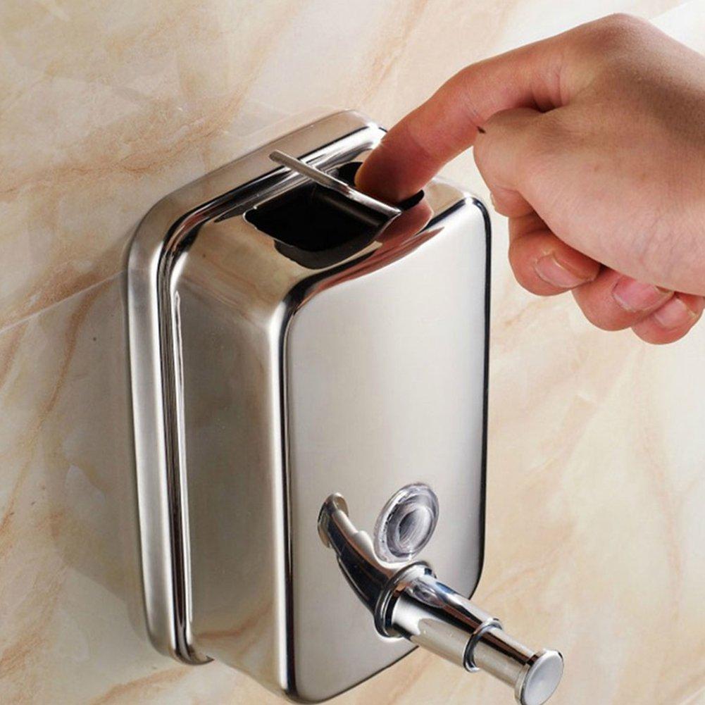en acier inoxydable Contenance 500/ml//800 ml Silver 500 ml Distributeur de savon//shampoing /à fixation murale pour douche