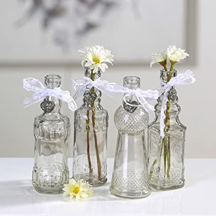 Botellas – Jarrón Lovely 4 Jarrones Altura aprox.